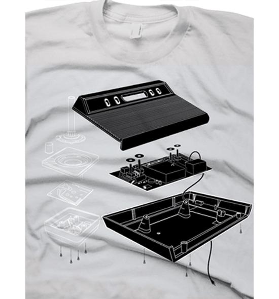 Exploded Atari 2600 T-Shirt