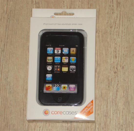 Core Case iPod Touch (2nd generation) Aluminum Slider Case (Colour Black)