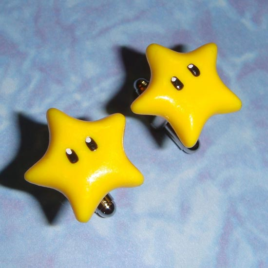 Mario Yellow Star Cufflinks