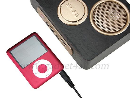 mini wooden sound box