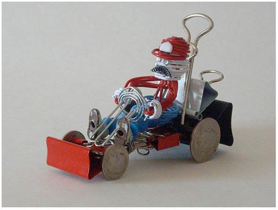 This fun paper clip Mario Kart was made by Kody Koala , when he was ...