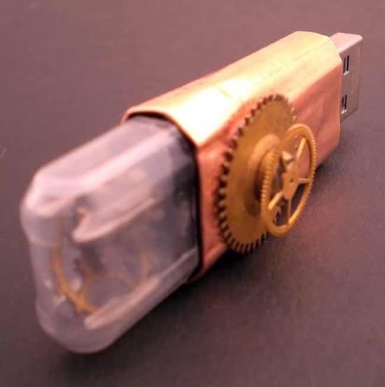 steampunk USB Jump Drive
