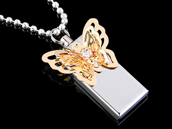 USB Jewel Butterfly Flash Drive