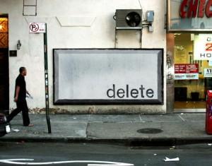 Delete Key Billboard