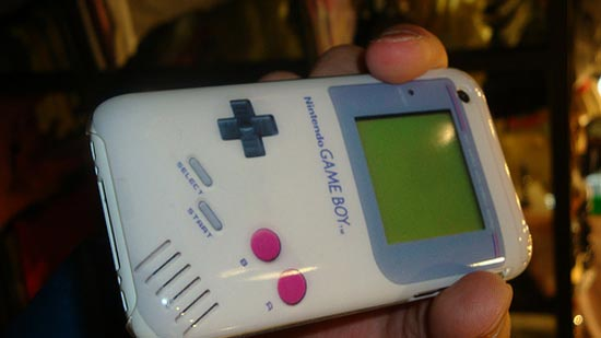 Apparently this funky Game Boy iPhone case is available somewhere in Japan,