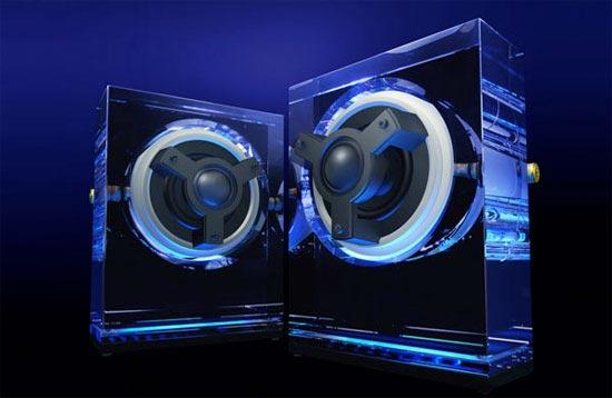 Kenwood Glass Speakers