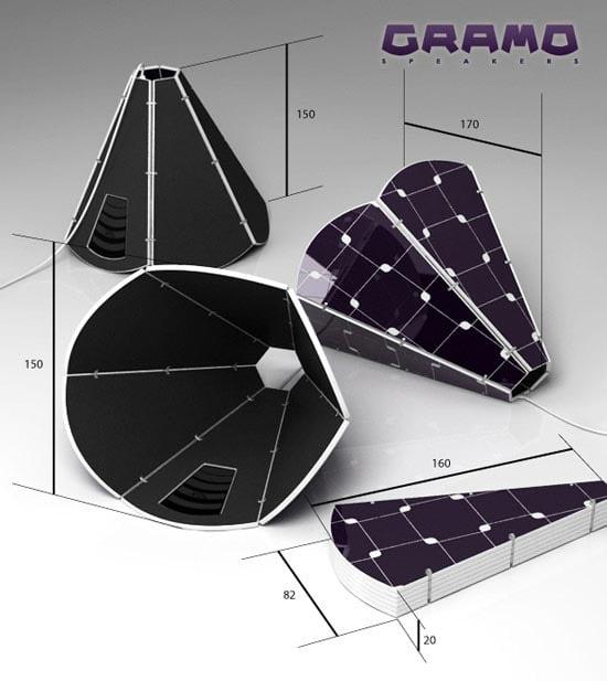 Solar Powered Gramo Speakers