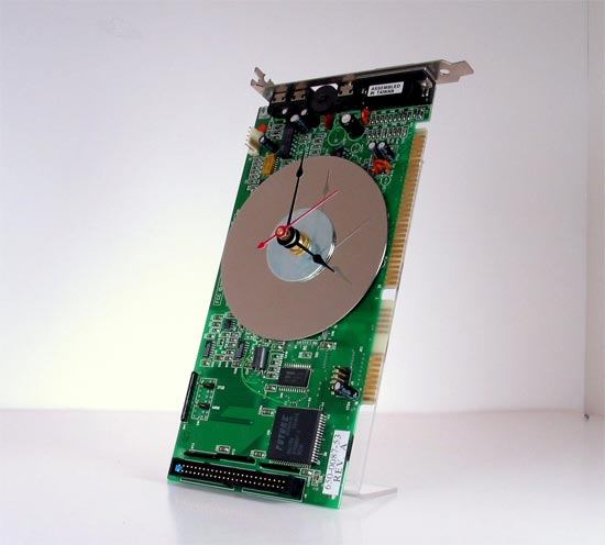 Recycled PC Sound Card Clock