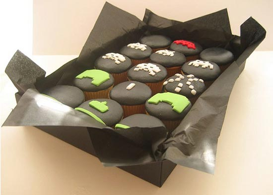 Space Invaders Cupcakes