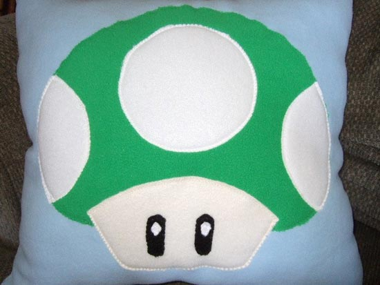 Super Mario Bros Mushroom Pillow Set