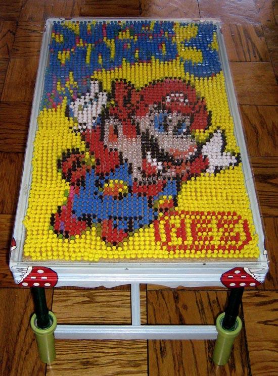 Super Mario Bros 3 Pushpin Coffee Table