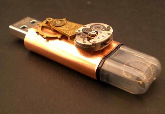 Copper Steampunk USB Jump Drive