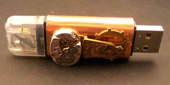 Copper Steampunk USB Jump Drive