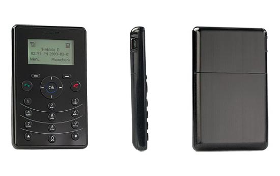 credit card sized mobile phone