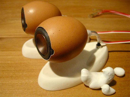 DIY Eggshell Speakers