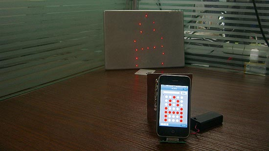 Diy iphone laser matrix projector for Apple iphone projector