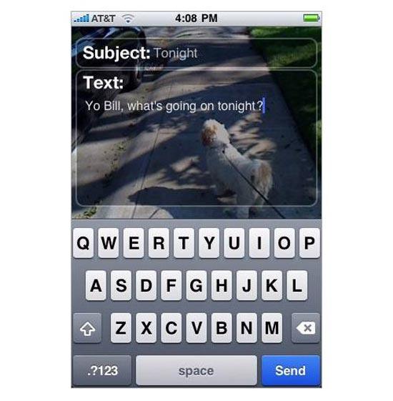 Email 'n Walk iPhone App