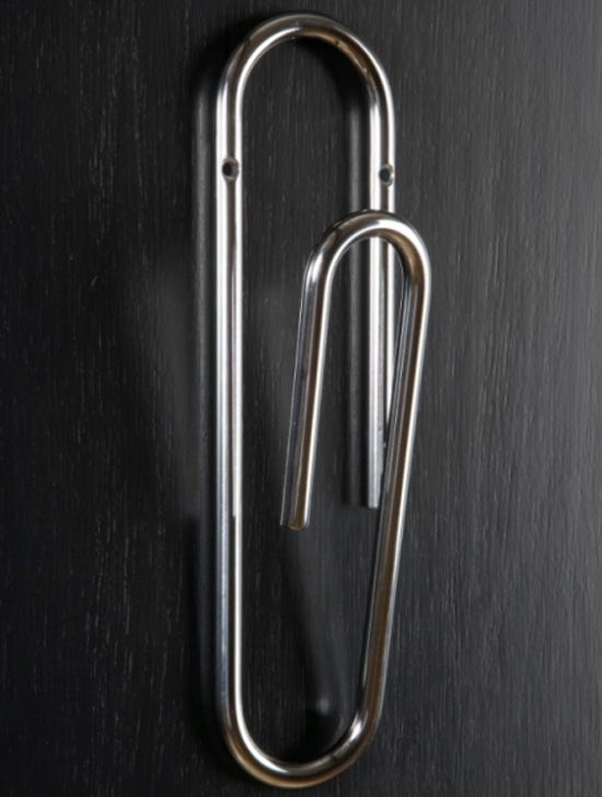 Giant Paperclip Coat Hook
