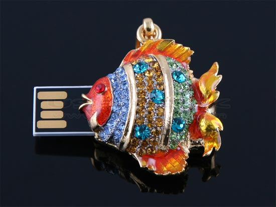 Goldfish Necklace USB Drive