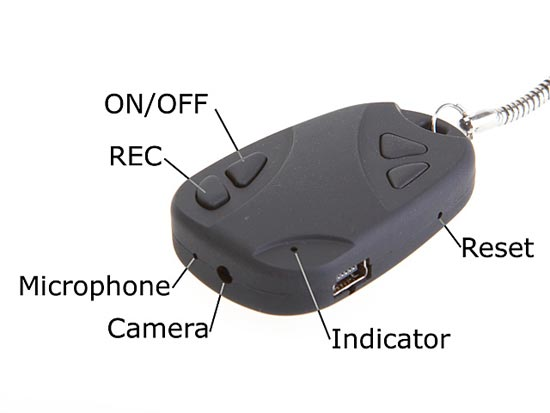 Keychain Car Key Security Spy Camera