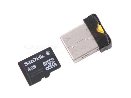 USB NanoSac microSDHC Card Reader