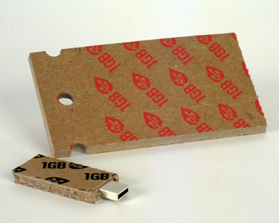 Recycled Cardboard USB Flash Drive