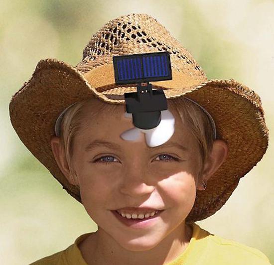 The Solar Hat Fan