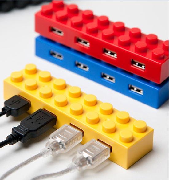 Stackable Lego USB Hubs