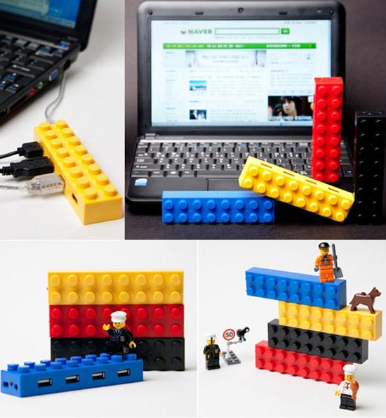 Stackable Lego USB Hubs