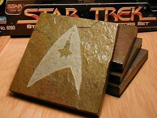 Handmade Star Trek Logo Coasters