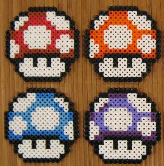 Super Mario Mushroom Coasters