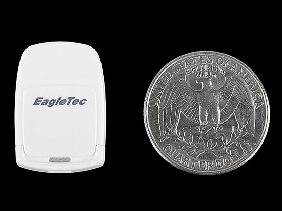 EagleTec USB NanoSac Micro SD Card Reader