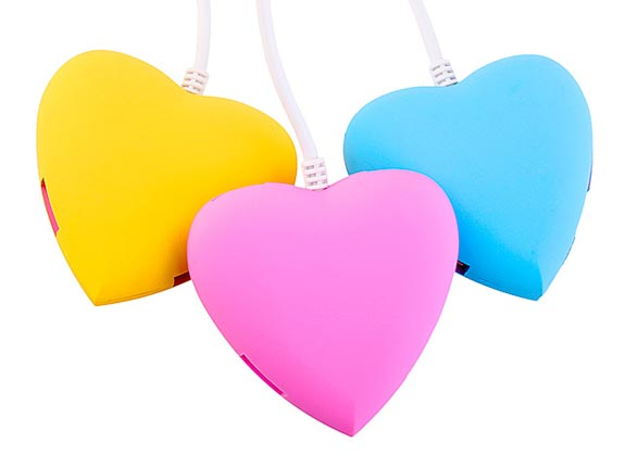 USB Heart 4-Port Hub