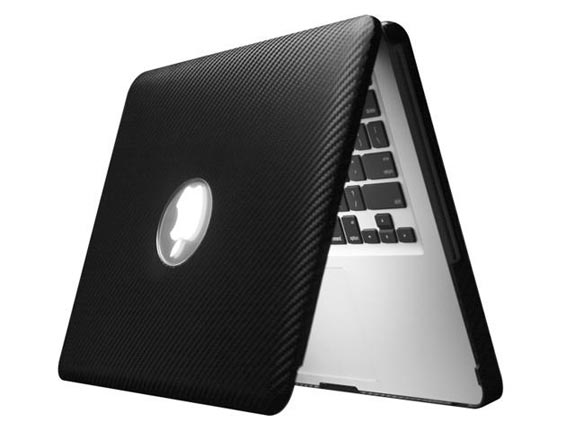 Carbon Fiber Leather MacBook Case