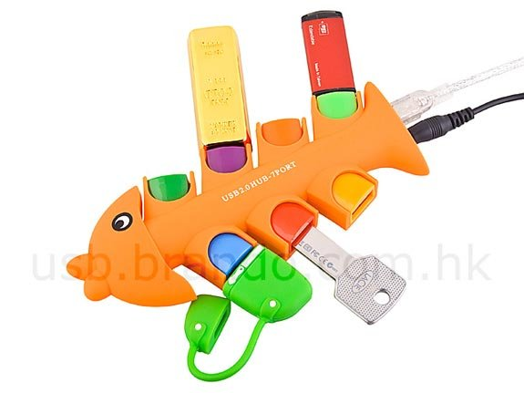Fishbones 7-Port USB Hub