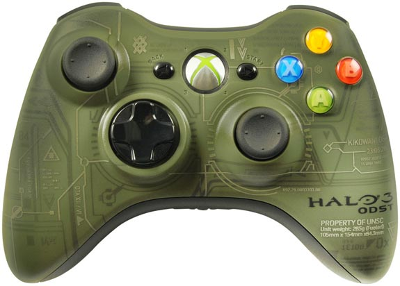 Halo 3 ODST Xbox 360 Controller