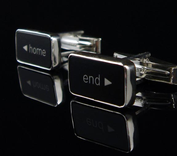Geek Accessories - The <Home End> Computer Key Cufflinks