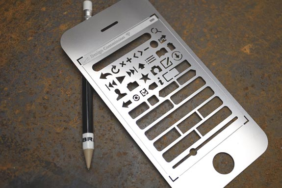 iPhone User Interface Stencil Kit