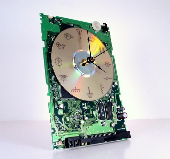 Laser Etched Recycled Circuit Board Clock