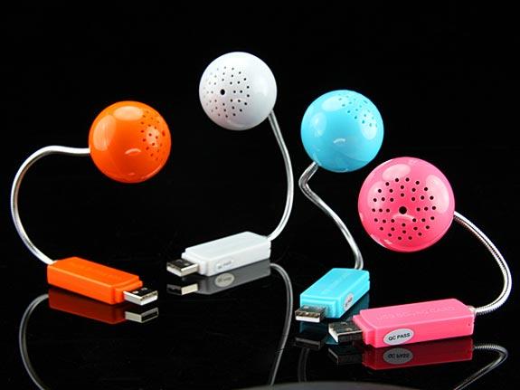 Mini Ball USB Sound Card and Speaker