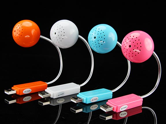 Mini Ball USB Sound Card and Speaker