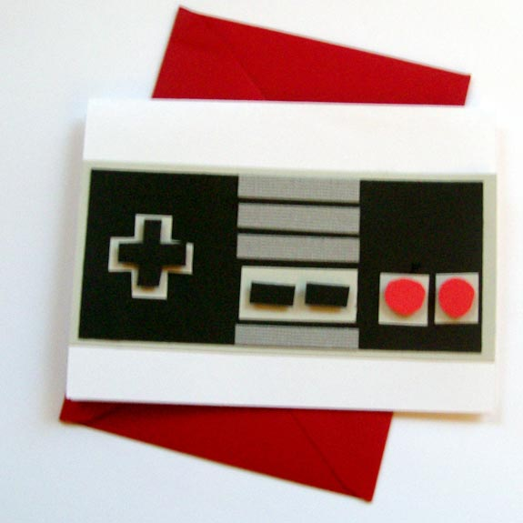 nes controller birthday cards