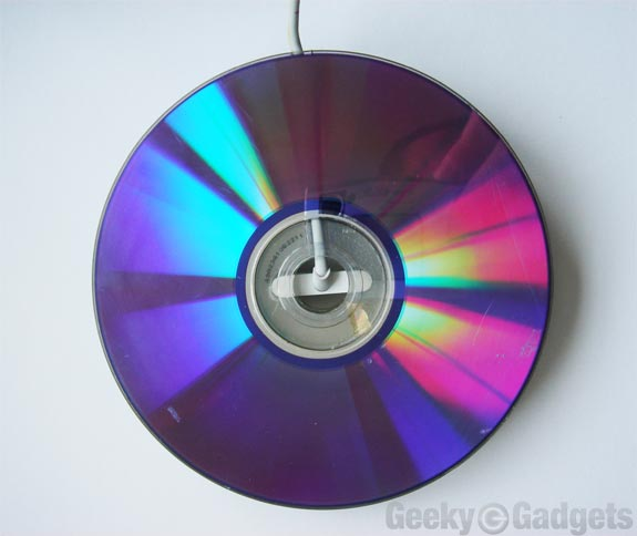 recycled cd iPhone stand