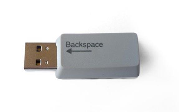 Recycled Keyboard Key Flash Drives