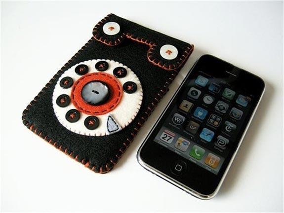 Rotary Retro Felt iPhone Case