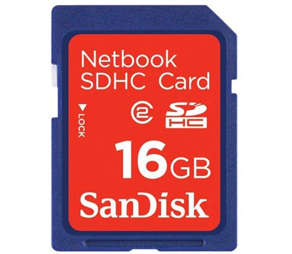 Sandisk Netbook SDHC Cards