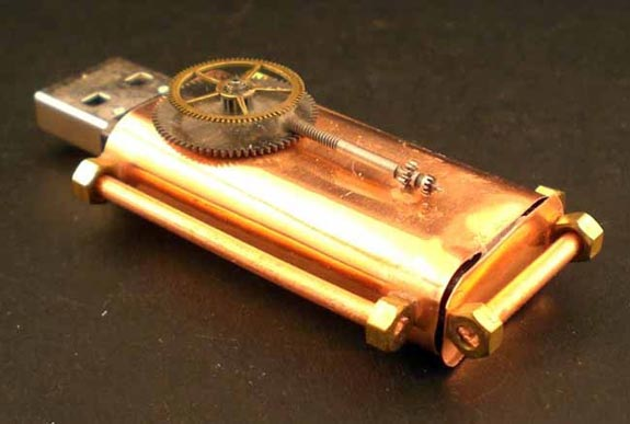 Steampunk Copper USB Drive