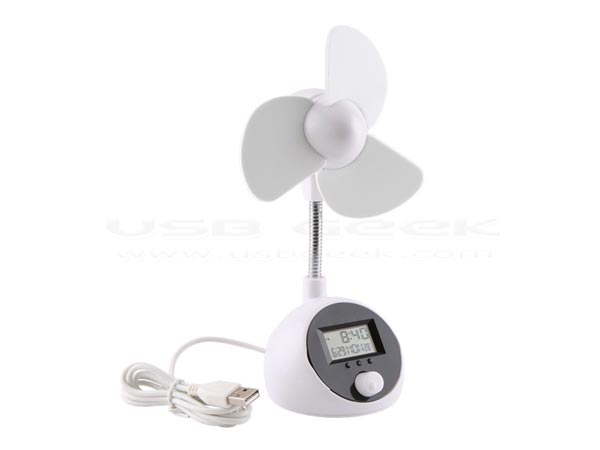 USB Fan and Thermo Clock