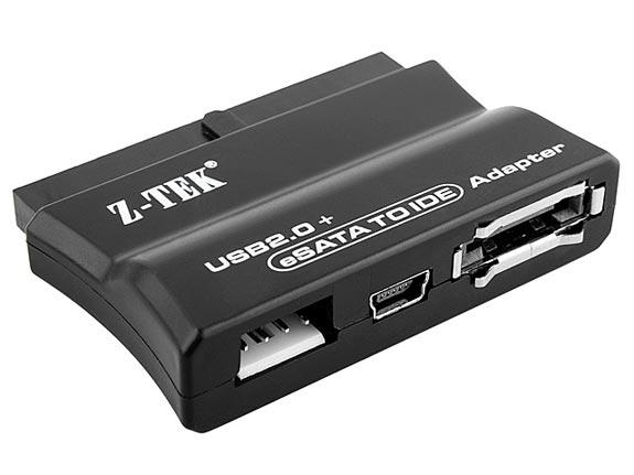 USB + eSATA to IDE Adapter