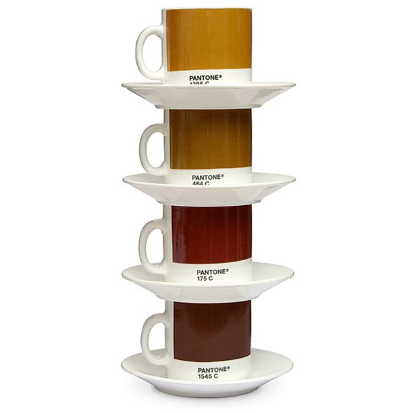 Pantone Espresso Cup and Saucer Set